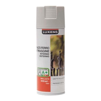 Smalto per ferro antiruggine spray Luxens grigio RAL 7035 brillante 0,4 L