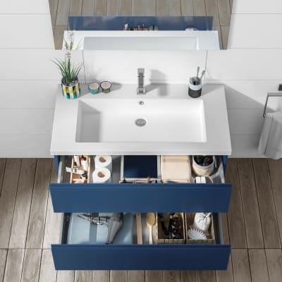 Mobile bagno Gola blu navy L 95 cm