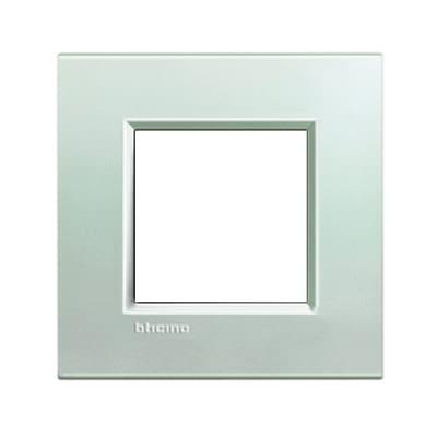 Placca 2 moduli BTicino Livinglight argento