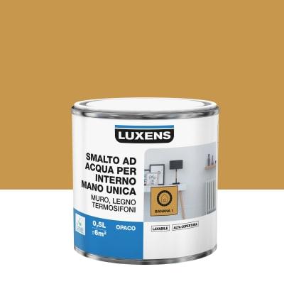 Smalto manounica Luxens all'acqua Giallo Banana 1 opaco 0.5 L