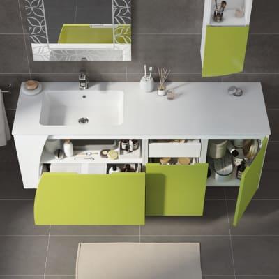 Mobile bagno Soft verde acido L 152,5 cm prezzi e offerte online  Leroy Merlin
