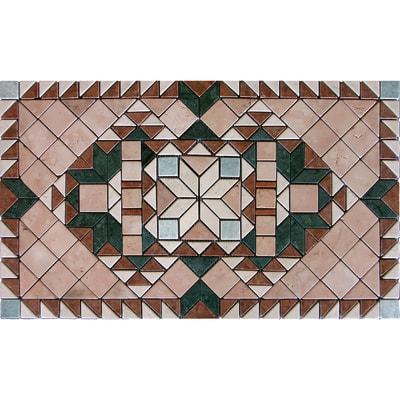 Composizione decorativa Tappeto multicolor 60 x 100 cm