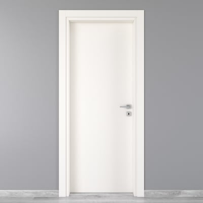 Porta da interno battente Moma Bianco 90 x H 210 cm sx