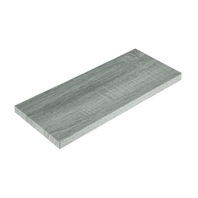 Mensola Spaceo rovere grigio L 56 x P 20, sp 2,2 cm