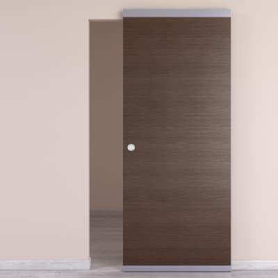 Porta da interno scorrevole Timber Easy binario nascosto fumo 91 x H 221 cm reversibile