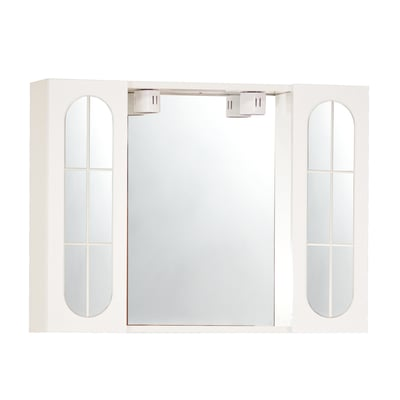 Armadietto a specchio Classica L 77 x H 57 x P  15 cm bianco