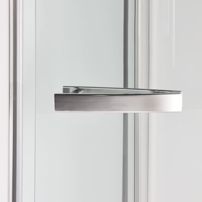 Porta doccia Namara 85-90, H 195 cm cristallo 8 mm trasparente/silver
