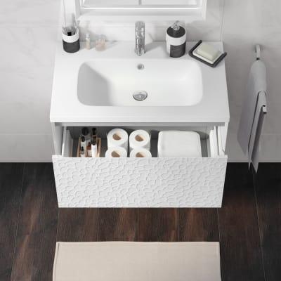 Mobile bagno Venus bianco L 74 cm