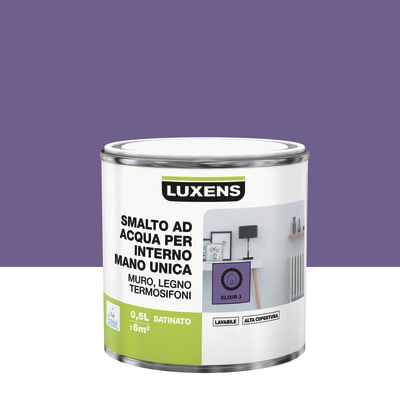 Smalto manounica Luxens all'acqua Viola Elisir 3 satinato 0.5 L