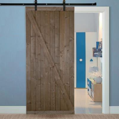 Porta da interno scorrevole Range noce 96 x H 270 cm reversibile