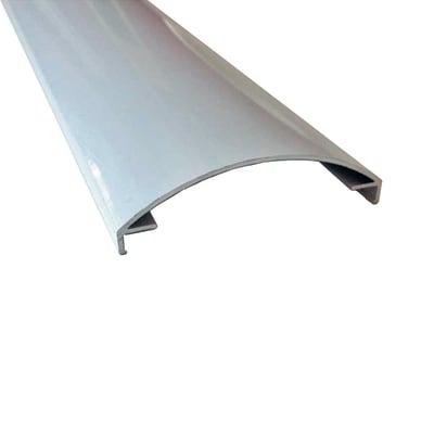 Profilo perimetrale ReadyBlock GlassCover curvo satinato grigio 1 m, 8,53 x 2,3 cm
