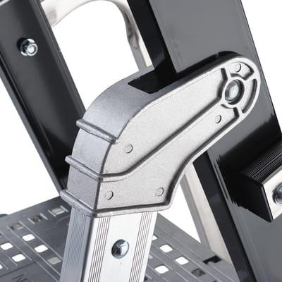Scala doppia alluminio Gierre 8 gradini, per lavori fino a 3,8 m