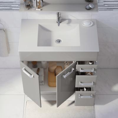 Mobile bagno Opale ecrù L 80 cm