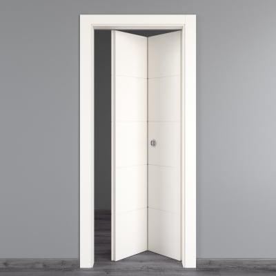Porta da interno pieghevole prado bianco 80 x h 210 cm dx prezzi e offerte online leroy merlin - Porta a libro bianca ...