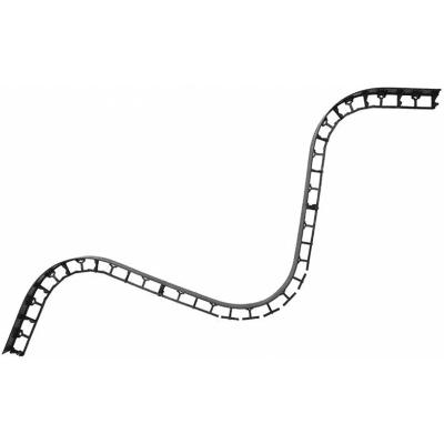 Bordo plastico per posa lastre 7,5 x 100 cm Geobordo 4 pezzi, spessore 4,5 cm