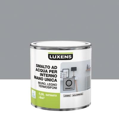 Smalto manounica Luxens all'acqua Grigio Granito 3 satinato 0.5 L