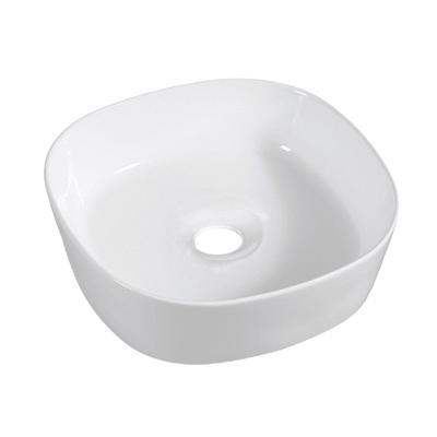 Lavabo da appoggio quadrato Manu L 46 x P 46 x H  17 cm bianco