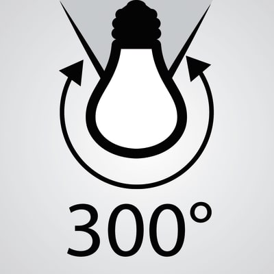 3 lampadine LED Lexman E14 =40W oliva luce fredda 300°