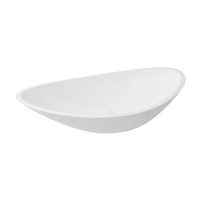 Lavabo da appoggio ovale Shila L 56 x P 17 x H  32 cm