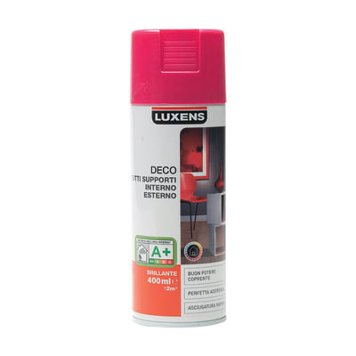 Smalto spray Deco Luxens Rosa Shocking 3 brillante 400 ml