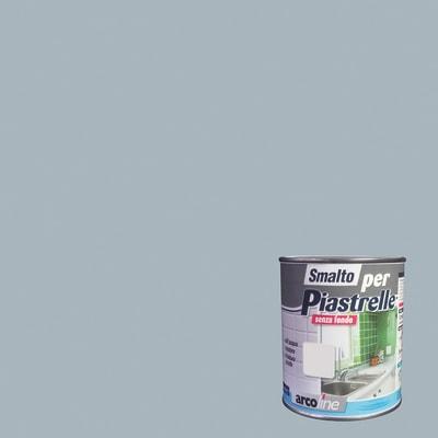 Smalto  per piastrelle Arcoline 606 grigio argento brillante 0,5 L