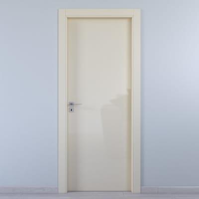 Porta da interno battente Massaua ivory avorio 70 x H 210 cm dx
