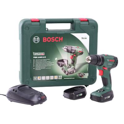 Trapano avvitatore con percussione Bosch PSB1440 LI-2, 14,4 V 1,5 Ah, 2 batterie