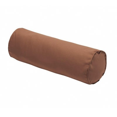 Cuscino Cilindrico marrone piping marrone 60 x 20 cm