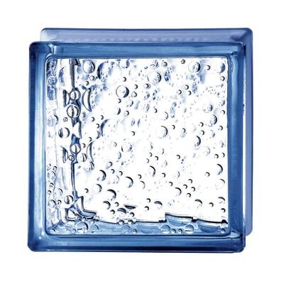 Vetromattone blu bolle 19 x 19 x 8 cm