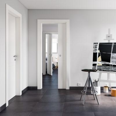 Porta da interno pieghevole Rail bianco 70 x H 210 cm dx