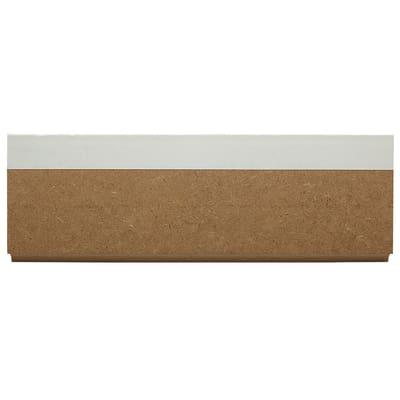 Battiscopa carta finish rivestito bianco 16 x 70 x 2400 mm