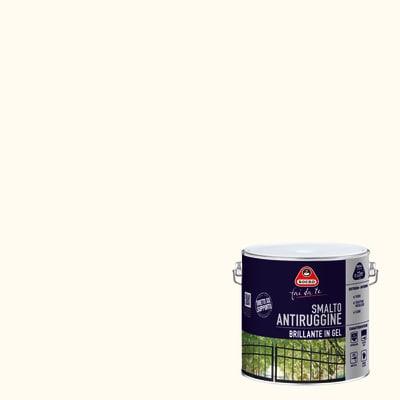 Smalto per ferro antiruggine bianco brillante 2 L