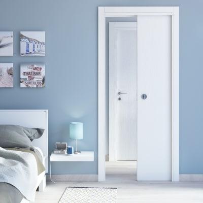 Porta da interno pieghevole Renoir bianco venato 70 x H 210 cm dx