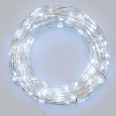 Catena luminosa 20 minilucciole Led bianca fredda 1,9 m