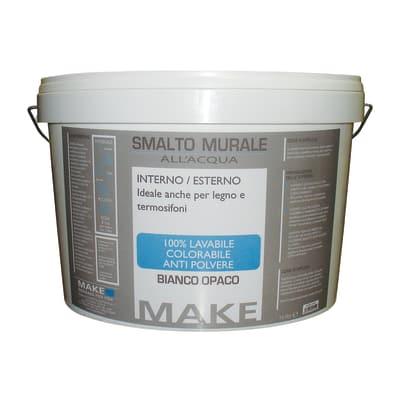 Smalto murale bianco opaco Make 10 L