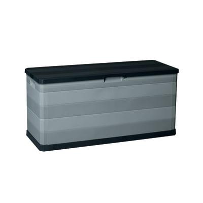Baule Elegance L 117 x P 45 x H 56 cm nero, grigio