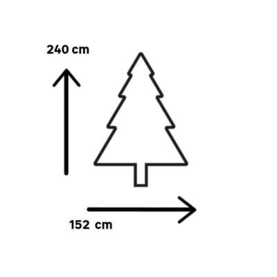 Albero di Natale artificiale Windsor H 240 cm