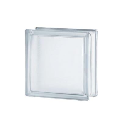 Vetromattone trasparente liscio satinato 19 x 19 x 8 cm