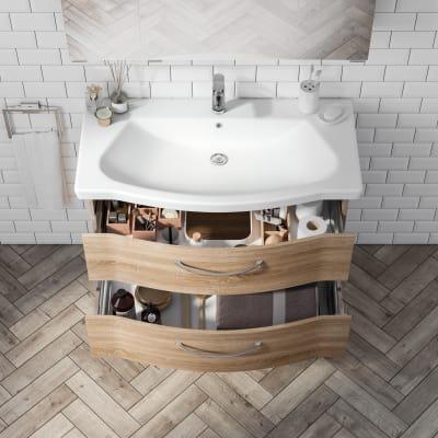 Mobile bagno Solitaire rovere L 97 cm