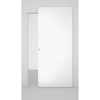 Porta da interno scorrevole Space binario nascosto laccato bianco 101 x H 230 cm sx