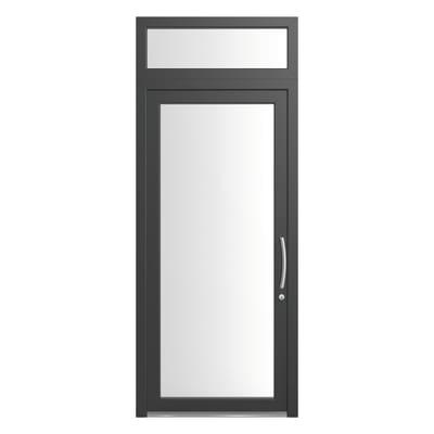 portoncino d'ingresso PVC Condo15 grigio L 90 x H 250 sx