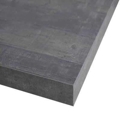 Piano cucina su misura laminato Kaos grigio 4 cm