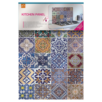 Sticker kitchen pannel azulejos prezzi e offerte online for Fotomurali leroy merlin