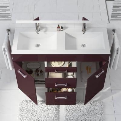 Mobile bagno Opale melanzana L 120 cm