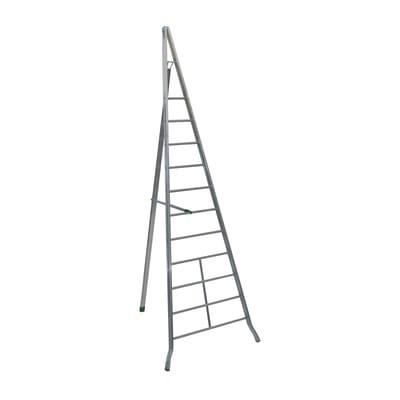 Scala agricola alluminio Facal 8 gradini, per lavori fino a 3,9 m