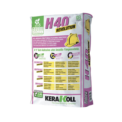 Colla in polvere H40 Revolution C2F bianco 25 kg