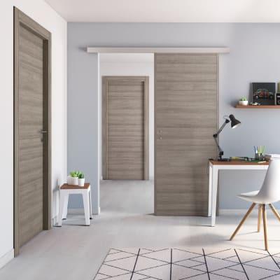Porta da interno battente One gray cenere 70 x H 210 cm reversibile
