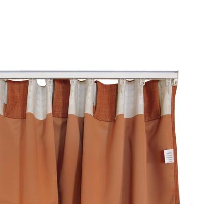 Tenda Lin ingnifugo arancione 140 x 300 cm