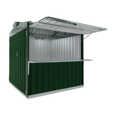 chiosco in metallo Cuba c/mensola 6,27 m², 1 ribalta