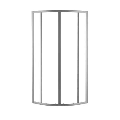 Box doccia scorrevole Nerea 87.5-89 x 87,5-89, H 185 cm cristallo 4 mm granito/silver